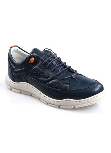 James Franco 5550 Ortapedik Lacivert Günlük Erkek Deri Ayakkabı Lacivert